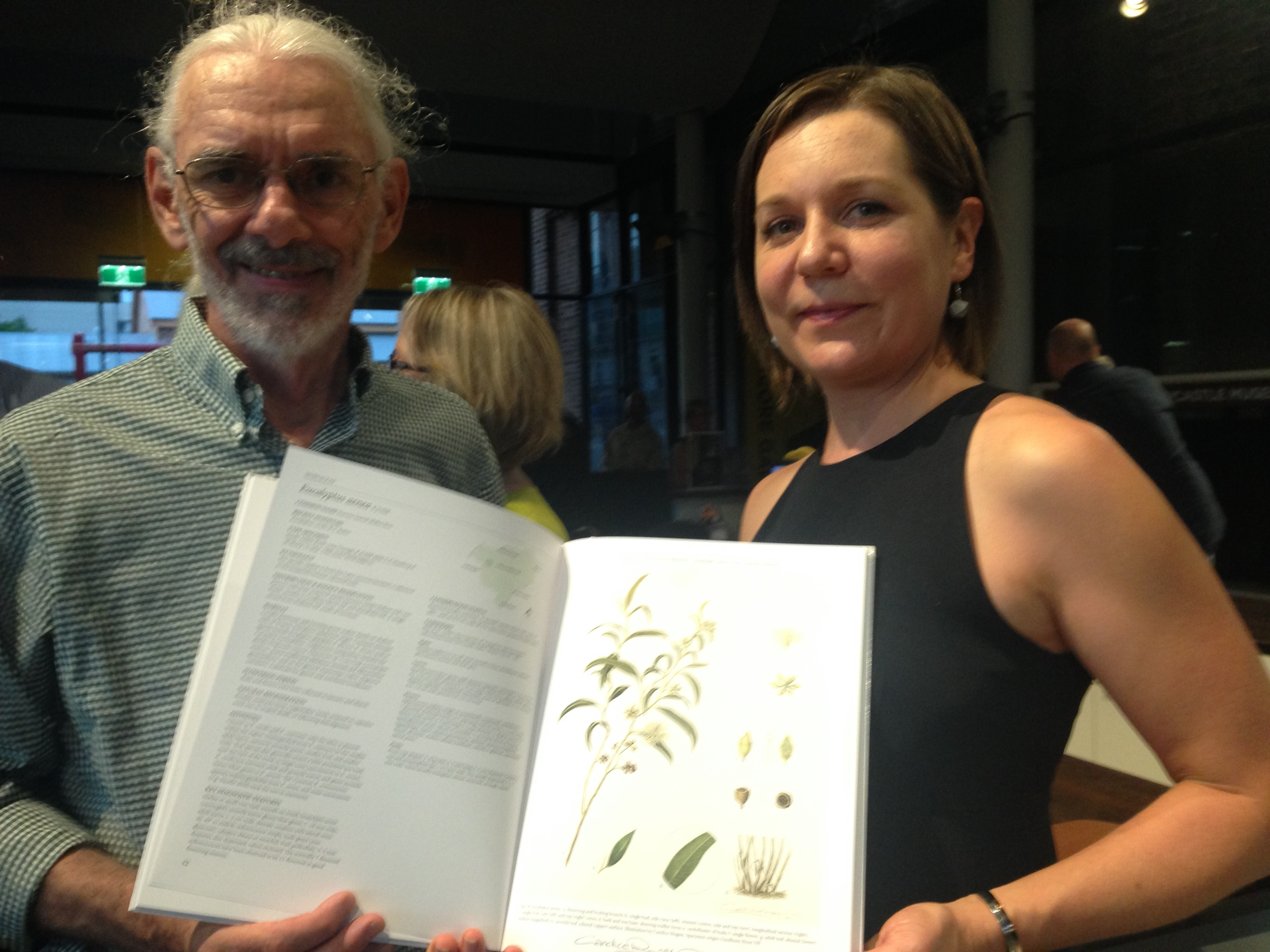 Andrew with illustrator Candice Rogers at the book launch